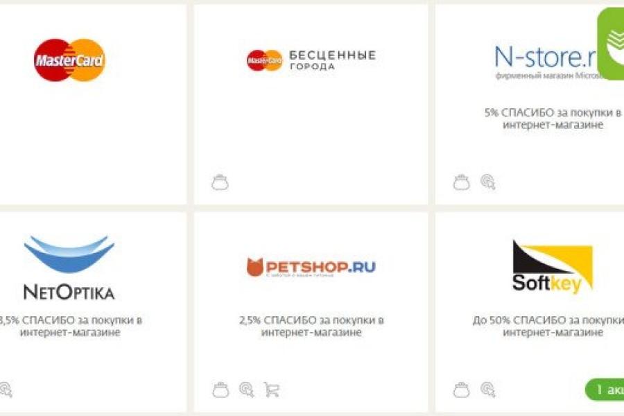 Магазины, в которых действует бонусная программа Спасибо от Сбербанка 10