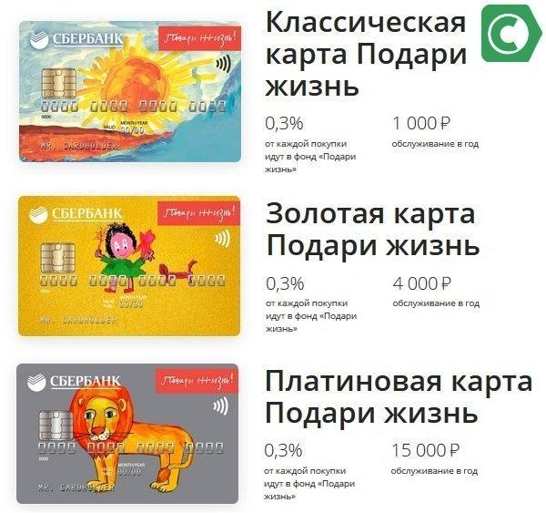 карточки для благотворительности