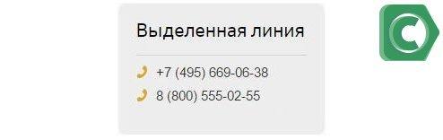 Номер выделенной линии Сбербанк Премьер
