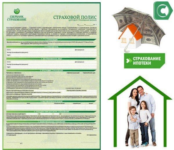 Страховой полис по ипотеке в Сбербанке