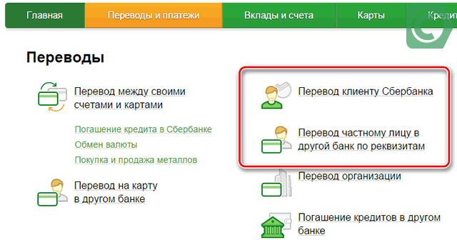 сбербанк перевод со счета на счет комиссия