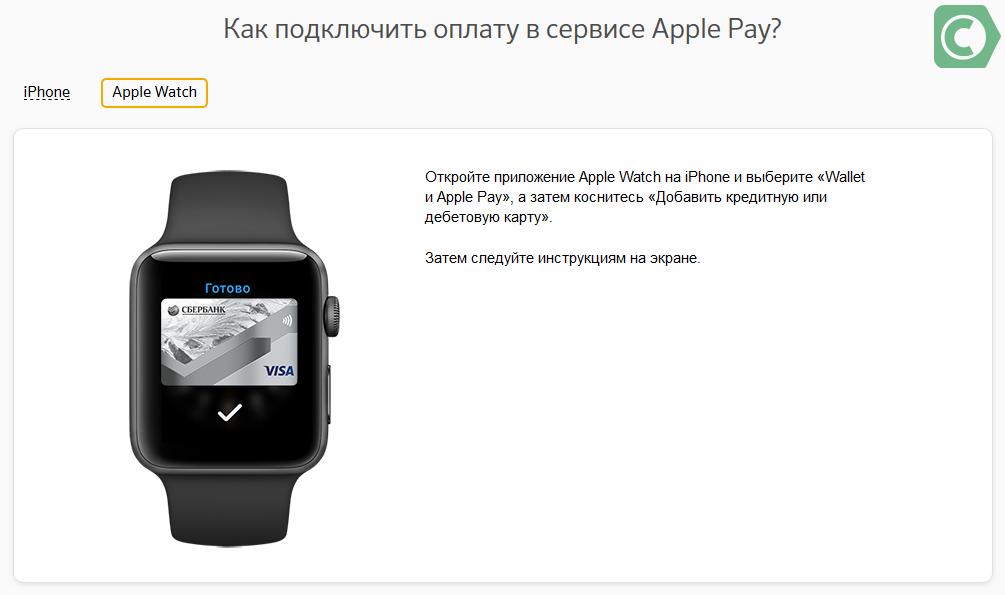 какие карты сбербанка поддерживают apple pay