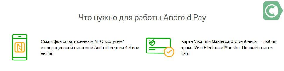 дата выхода android pay в россии