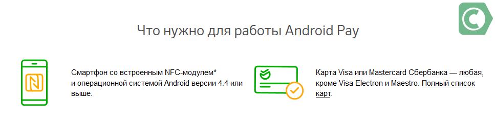 дата выхода android pay в россии