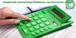 Как рассчитать кредит в Сбербанке