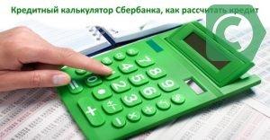 рассчитать кредит в сбербанке россии