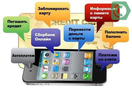 полный пакет мобильного банка сбербанка что входит