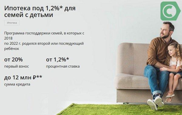 ипотека под 1,2%