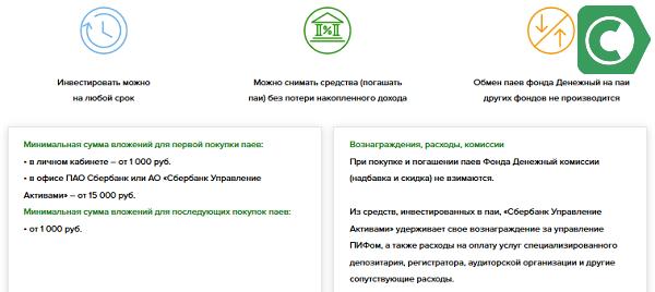 условия денежного фонда