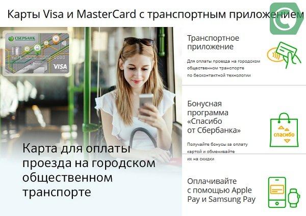 банковские карты с транспортным приложением