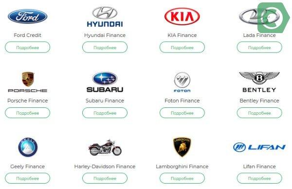какие машины можно купить в кредит