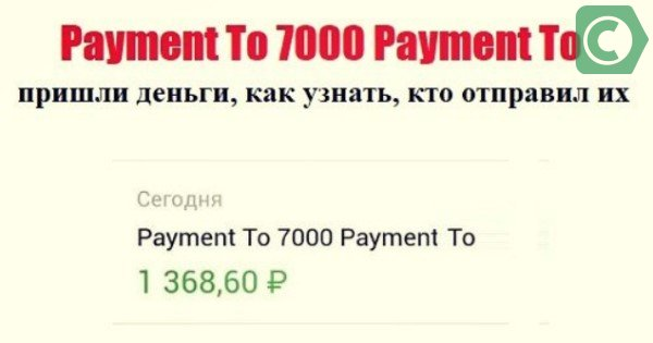 payment to 7000 payment to что это значит