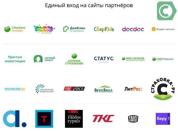 Сбербанк ID партнеры
