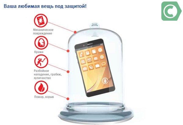 как застраховать телефон от повреждений
